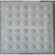 G654点状导盲石 仿中国黑 童子黑 芭拉花 深灰色花岗岩石材 灰色花岗岩石材