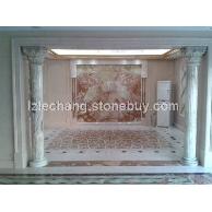 砳昌石材厂家直销各种仿大理石材料,板材,线条,浮雕,门套线,罗马柱,欧式异形