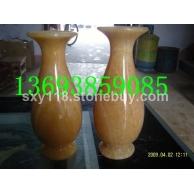 松香玉米黄玉花瓶工艺