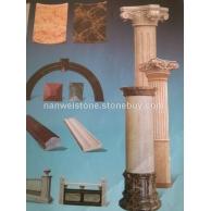 供应 南威石材 圆柱线条 罗马柱