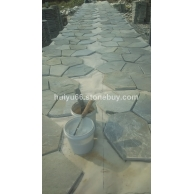 供应天然板岩文化石 青石板冰裂纹网贴石 地铺石