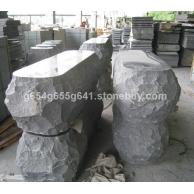 芝麻黑G654芝麻灰石材异形加工
