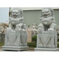 供应 镇宅 石雕狮子 摆件石刻石狮子