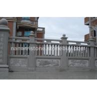 石材栏杆子 浮雕