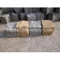 各色砂岩自然劈开面小方石