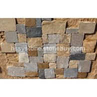 墙石地铺石方形石英混色