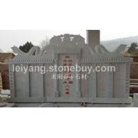 湖南汉白玉组合碑 石墓碑