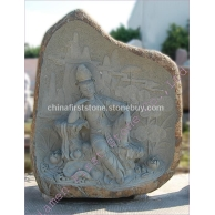 自然石佛像雕刻GGP195