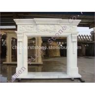 白色人造大理石壁炉MFI186