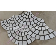 园艺石材白石英网贴HZW-134