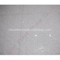 白色大理石雕花板FSMP-100