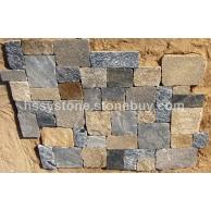 墻石地鋪石方形石英混色