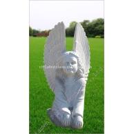 花岗岩天使雕刻墓碑石GMS017