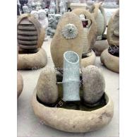 自然石雕刻喷泉GAF278