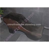 黑色花岗岩艺术雕刻椅子GCF508