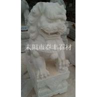 湖南汉白玉石狮子