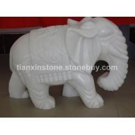 石雕汉白玉大象