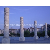 龙柱、图龙柱、石雕圆柱、空心柱、文化柱、盘龙柱、浮雕龙柱