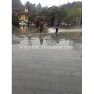 广西南丹瑶族铜鼓文化广场-地面石与路沿石效果图展示 (4) )