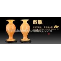 米黃玉雕件 玉瓶