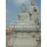 福建白石观音 天然石材观音雕刻 惠安石雕