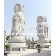 庙宇石雕神像观音 观音菩萨石头雕像
