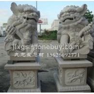 石雕献钱狮 北京狮 港币狮 石狮子雕刻