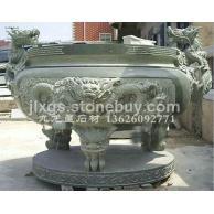 生产加工各式祠堂、墓 地、宗教寺庙古建专用石雕香炉、 石头雕刻香炉
