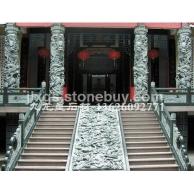 寺庙古建石雕 仿古石柱 石雕龙柱