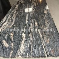 黑白山水石