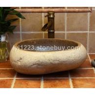 供应仿古自然面石头艺术盆S15台上洗手盆面盆地中海阳台洗漱盆中式