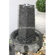 塔型石雕水景