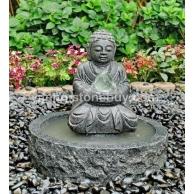 石雕佛像水景