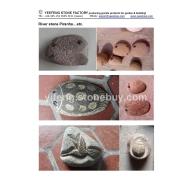 自然卵石动物雕刻