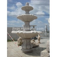白石三层水波  庭院水钵 石雕喷泉制作