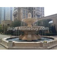埃及米黄水钵 大理石水钵 欧式石雕喷泉