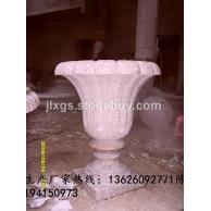 石材花钵生产厂家 石材花钵批发 批发黄锈石花钵