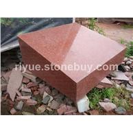 中国红墓碑石