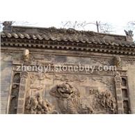 厂家直销黄砂岩、牌楼、台阶石、砂雕、古建筑物、石材板、狮子、桥墩