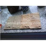 黄木纹砂岩蘑菇石