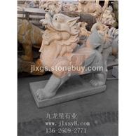 石雕貔貅 芝麻白貔貅 貔貅摆件 吉祥如意貔貅