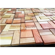 馬賽克天然木紋實木精品