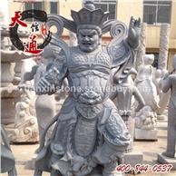 石雕四大天王-西方广目天王,四大天王雕塑,石雕人物