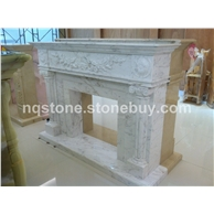 F-060(希腊进口爵士白雕刻壁炉架Fireplace Mantel)