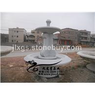 厂家供应花岗岩黄锈石喷泉雕刻石雕水钵直径2.3米现货批发5