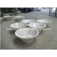 B-123出口美国白色大理石碗形洗手盆WHITE MARBLE BASIN