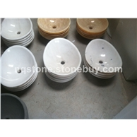 B-121白色大理石异形洗手盆WHITE MARBLE BASIN