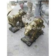 厂家直销金牛石雕像 长期批发花岗岩石雕工艺品