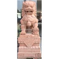 红砂岩石狮