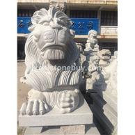 石雕工艺品 石狮子  最好看的石狮子 专业生产